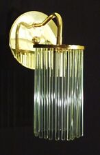 VTG LIGHTOLIER/SCIOLARI GLASS ROD SCONCEs BRASS RETRO MID-CENTURY EAMES