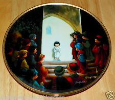 Collector Plate Jesus in the Temple Series Precious Moments Bible Story