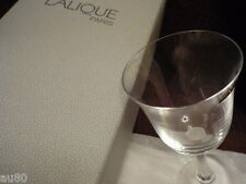 LALIQUE Crystal  BARSAC Bordeaux wine glass signed NIB!! Gorgeous!!