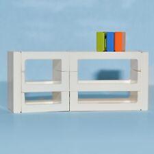 LEGO Furniture: Shelving Set (White) - Modular Shelves w/ Book Tiles   [custom]