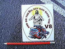 Funny V8 Sticker American Hot Rod Pontiac Mustang Corvette Muscle Car Gas Monkey