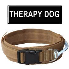 HEAVY Duty Tactical Dog Collar Military Reflective Handle Training Dog Collar