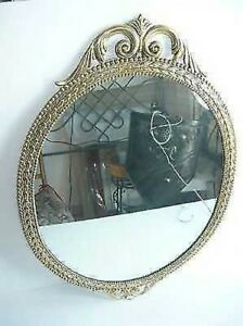 Mirror Frame Baroque Brass Polished Oval