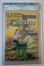 CLASSICS ILLUSTRATED COMICS #44 MYSTERIES OF PARIS 12/47 CGC 4.5 1ST ED