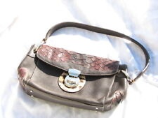 Puntotres Women's Purse - Hand Bag Brown Made in Spain Genuine Leather