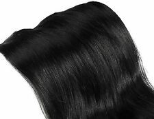 Human  Hair Blend  Extensions long Weft Full Head Black  Long Clearance Sale
