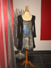 ELEGANTE ROBE TUNIQUE TUNIC DRESS GALON PAILLETTES SAVE THE QUEEN T M 38 UK 10