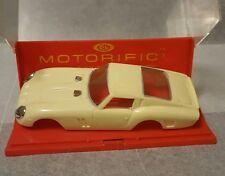 Vintage 1960's Ideal Motorific Yellow Ferrari Racing Stripe Car Body Only w/Case