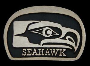 Kwakiutl Seattle Seahawk Rainbow Metals Solid Bronze Belt Buckle Brand New