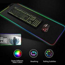 Große RGB Bunte LED Beleuchtung Gaming Matte Spiele Mouse Pad für PC Laptop NEU