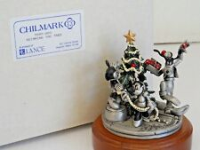 New listing Goofy Mickey Minnie Trimming the Tree Disney Pewter figurine Chilmark #7592