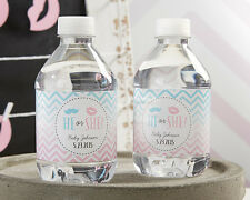 24 Gender Reveal Baby Shower Personalized Water Bottle Labels Q36133