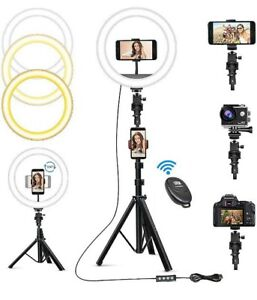 """Tiktok10"""" Ring Light With Stand Tripod and Phone Holder LED Selfie Live Lamp"""