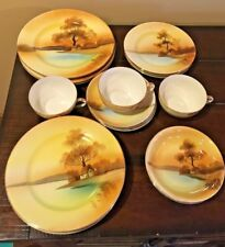 noritake tree in the meadow 18 pc, 3 place settings luncheon salad bread cups