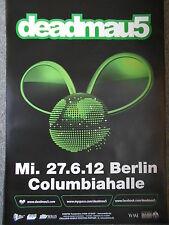 DEADMAU5 2012 BERLIN  SCHWARZ  orig.Concert-Konzert-Tour-Poster-Plakat DIN A1