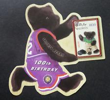 Maldives Teddy Bears 100th Birthday Golf 2002 Sport (sheetlet) MNH *odd shape