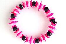 UV GLOW  Silicone Bracelet surfer rave dance hippie Pink  white  UV GLO 008