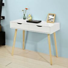 SoBuy Home Office Table Desk Computer Workstation with Drawers,White,FWT40-WN,UK