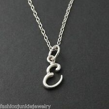 Tiny Initial Letter E Necklace - 925 Sterling Silver - Name E Letter Charm NEW