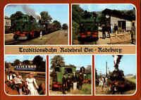 EISENBAHN Motiv Postkarte Radebeul Kr. Dresden Traditionsbahn Lokomotiven Loks