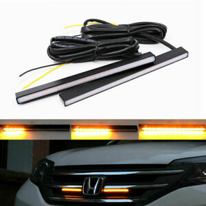 Switchback White&Amber  Metal LED DRL Daytime Light Bar Sequential Turn Signals