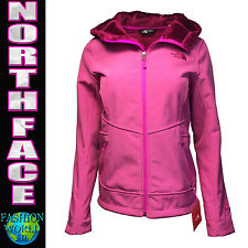 NORTH FACE Women's  Small Perseus Windwall Hooded Softshell Jacket Azalea Pink