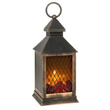 LED Flame Lantern Black Traditional Eternal Battery Powered Candle Light Lamp