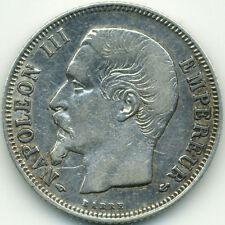 1 Franc Napoléon III tête nue 1858A - Qualité TTB (voir photos)