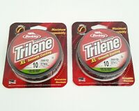 2 Pack Berkley Trilene XL Smooth Casting Fishing Line 10 Lb 300 Yd Low-Vis Green