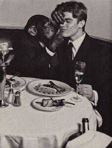 1990s Vintage BRUCE WEBER Handsome Male Peter Johnson Chimp Date Photo Art 11X14