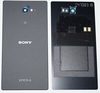 Original Sony Xperia M2 Aqua D2403 Akkudeckel Battery Cover + NFC Schwarz black