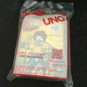 Japanese McDonald's Happy Meal Toy UNO Cards unopened