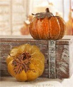Ceramic Pumpkin Décor - Set of 2