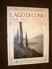 Lago di Como e paesi, ville e panorami - Le Cento Città d'Italia illustrate