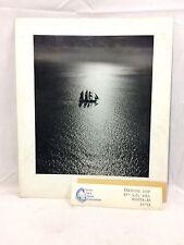 "Orig 1961 Photograph PATA ""Training Ship"" by G.S. Bull Austrailia 11.75"" x 9.5"""