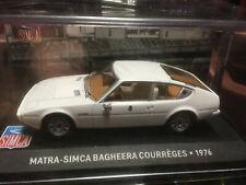 SIMCA MATRA BAGHEERA COURREGES 1976  IXO 1/43  en boite H46
