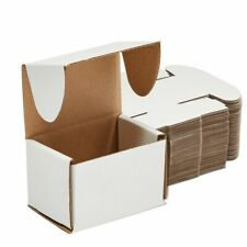 White Corrugated Mailer Boxes For Shipping And Packaging 3x2x2 In 50 Pack