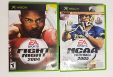 MICROSOFT XBOX - Lot of 3 Sport Games NCAA 2005 Top spin  & Fight Night 2004