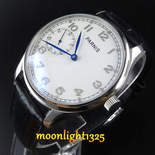 Parnis 44mm mechanical Seagull st36 hand winding mens 6497 steel case watch