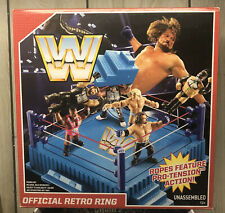 WWE Retro Wrestling Figure Ring by MATTEL WWF New Sealed Hasbro Replica