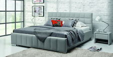 Design Luxus Lounge Polsterbett Doppelbett Futon-Bett Leder Grau SL16 NEU!