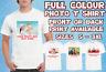 Personalised T-Shirt, Customised T Shirts, Men Women Stag Hen Kids photo Tee