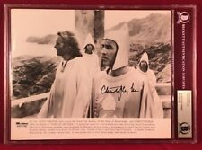 BAS encapsulated CHRISTOPHER LEE signed 10x8 Press Kit/Lobby Card photo Dracula