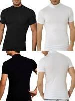 Shirt Herren Halbkragen T-Shirt Männer Muskelshirt Business Unterhemden DA2730