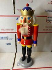 "Vintage German Nutcracker Original Erzgebirge Expertic King 14"""