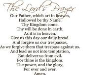Lord's Prayer Our father who art in heaven  vinyl wall decal