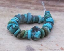 Old Antique  Natural Tibetan Turquoise Beads string, Mala Beads string,89 ct