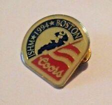 Boston 1994 Ishm Coors Beer Gold Tone Metal Lapel Pin