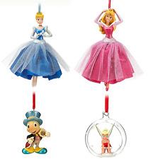 Disney Store Christmas Ornament Aurora Cinderella Tinker Jiminy Cricket 2012 New