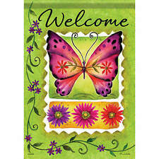 Large Size The Butterfly Theme Decorative House Banner Double-side Garden Flag